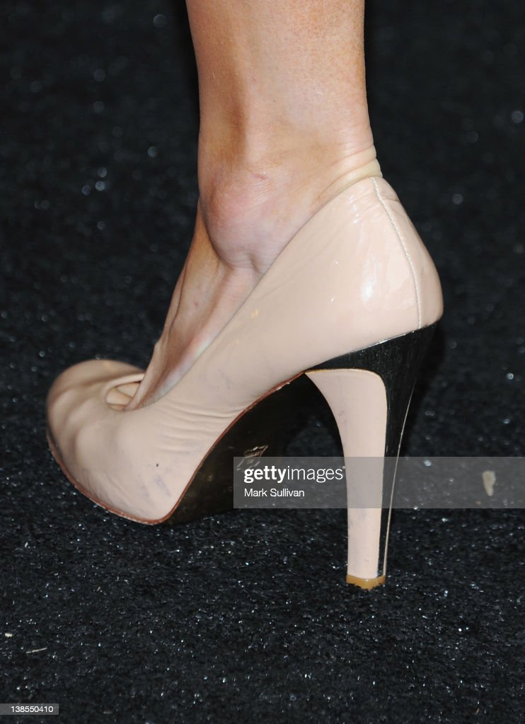 Paris Hilton (shoe detail) attends The 54th Annual GRAMMY Awards P&E Wing Event at The Village Recording Studios on February 8, 2012 in Los Angeles, California.