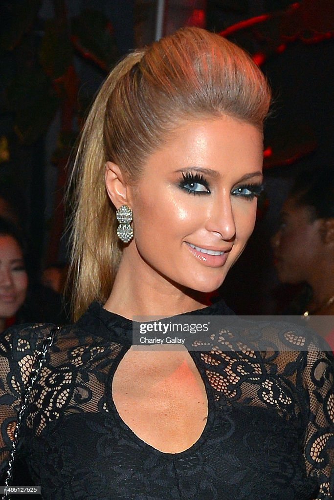 Paris Hilton attends the annual Midnight Grammy Brunch hosted by Ne-Yo and Malibu Red at Lure Nightclub on January 26, 2014 in Hollywood, California.