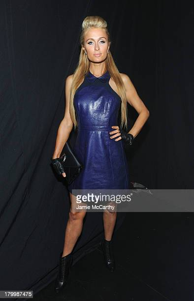 Paris Hilton attends the Charlotte Ronson Presentation during MercedesBenz Fashion Week Spring 2014 at The Box at Lincoln Center on September 7 2013...
