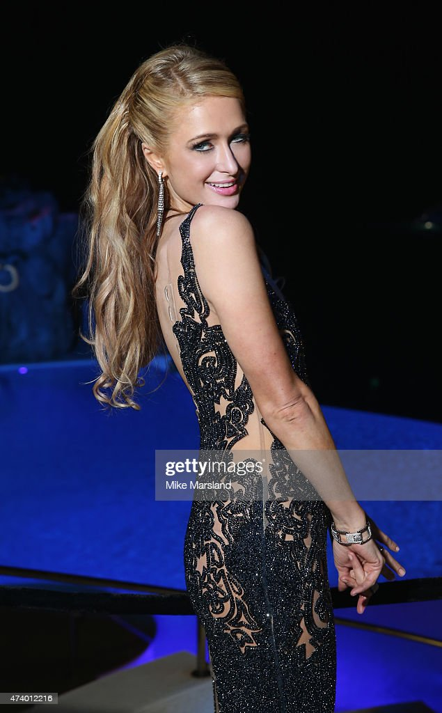 Paris Hilton attends the De Grisogono Divine In Cannes Dinner Party at Hotel du Cap-Eden-Roc on May 19, 2015 in Cap d'Antibes, France.