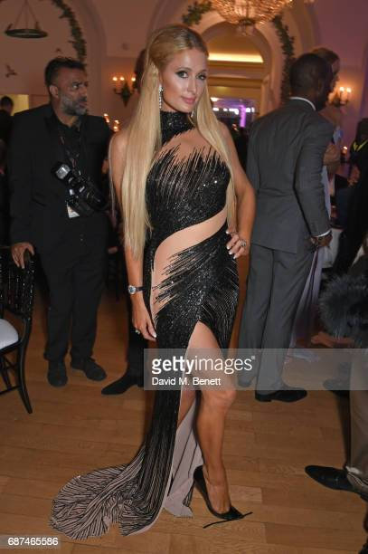 Paris Hilton attends the de Grisogono 'Love On The Rocks' party during the 70th annual Cannes Film Festival at Hotel du CapEdenRoc on May 23 2017 in...