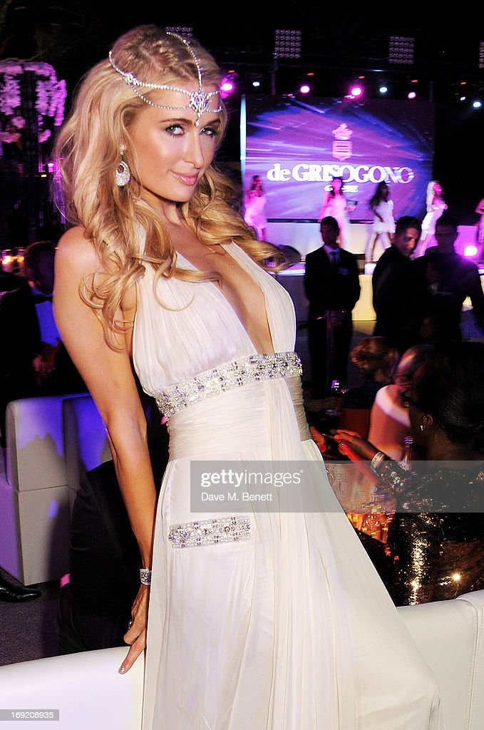 <a gi-track='captionPersonalityLinkClicked' href=/galleries/search?phrase=Paris+Hilton&family=editorial&specificpeople=171761 ng-click='$event.stopPropagation()'>Paris Hilton</a> attends the de Grisogono Party during the 66th International Cannes Film Festival at Hotel Du Cap on May 21, 2013 in Antibes, France.