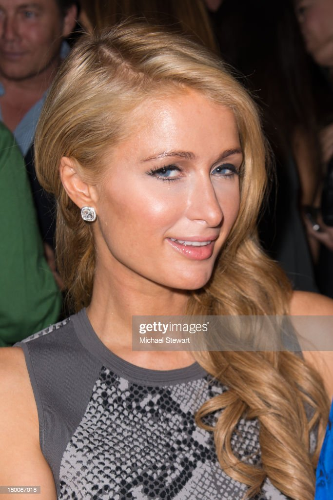 Paris Hilton attends the Diane Von Furstenberg show during Spring 2014 Mercedes-Benz Fashion Week at The Theatre at Lincoln Center on September 8, 2013 in New York City.