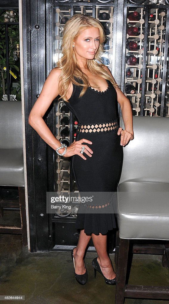 Paris Hilton attends the DT Model Management 2 Year Anniversary Celebration on July 24, 2014 at Pump in West Hollywood, California.
