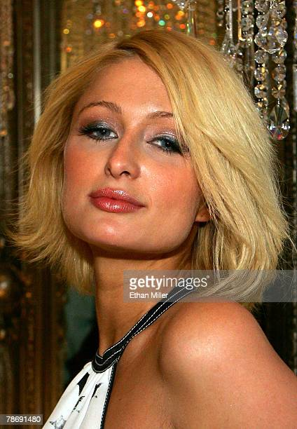 Paris Hilton attends the grand opening of Color A Salon by Michael Boychuck at Caesars Palace January 1 2008 in Las Vegas Nevada