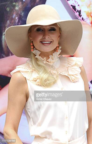 Paris Hilton attends the launch of her new line of shoes 'Paris Hilton The Shoe Collection' at Hotel Distrito Capital on March 29 2011 in Mexico City...