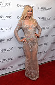 Paris Hilton attends the launch party of designer Charbel Zoe's new Los Angeles flagship store at Charbel Zoe Haute Couture Store on April 7 2015 in...