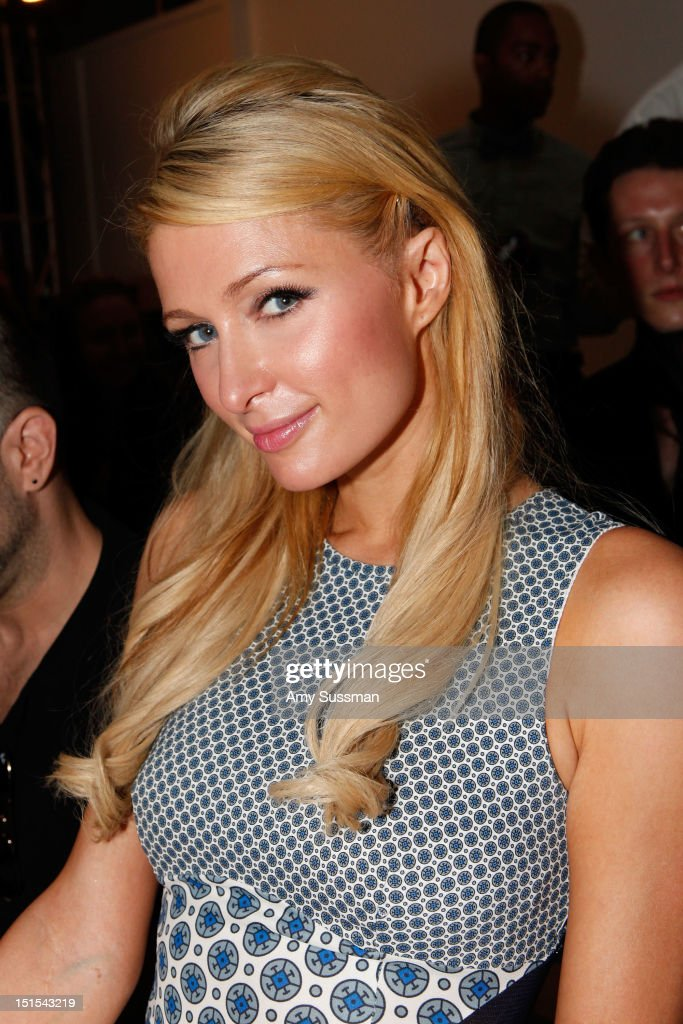 <a gi-track='captionPersonalityLinkClicked' href=/galleries/search?phrase=Paris+Hilton&family=editorial&specificpeople=171761 ng-click='$event.stopPropagation()'>Paris Hilton</a> attends the Marlon Gobel Spring 2013 fashion show during Mercedes-Benz Fashion Week at the New York Public Library on September 8, 2012 in New York City.
