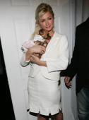 Paris Hilton attends the Narciso Rodriguez Fall 2005 show during Olympus Fashion Week at Bryant Park February 8 2005 in New York City
