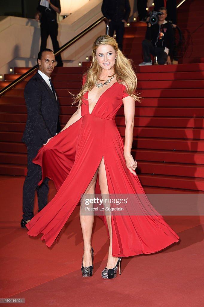 Paris Hilton attends the NRJ Music Awards at Palais des Festivals on December 13 2014 in Cannes France