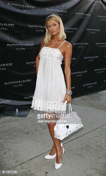 Paris Hilton attends the opening of 'The Good Life' photographs by Murray Garrett and Slim Aarons at the Photographers Gallery on June 27 2008 in Los...