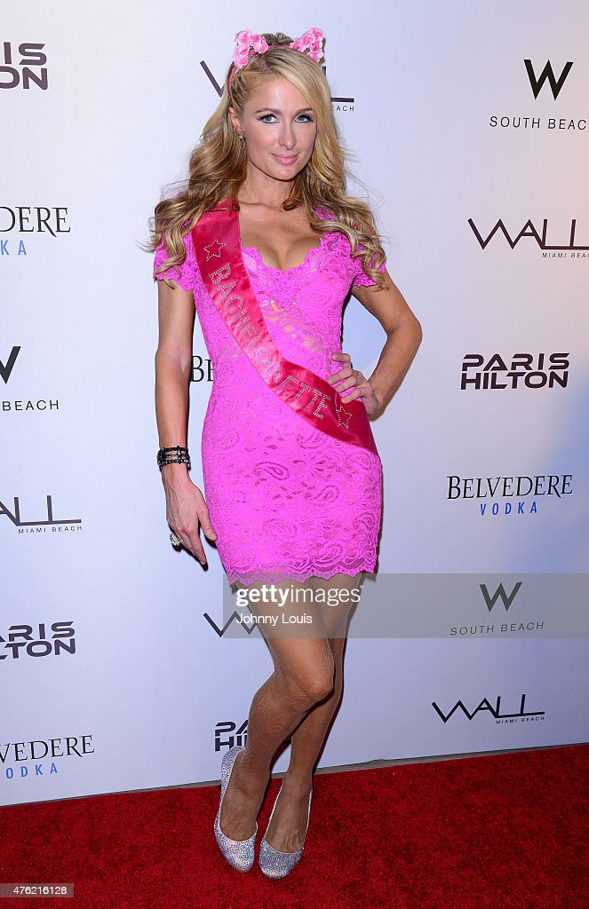 Paris Hilton attends the Paris Hilton Debuts New Single and Nicky Ultimate Bachelorette Party at Wall at W Hotel on June 6 2015 in Miami Beach Florida