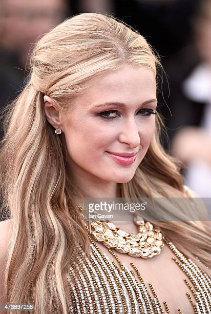 Paris Hilton attends the Premiere of 'Inside Out' during the 68th annual Cannes Film Festival on May 18 2015 in Cannes France