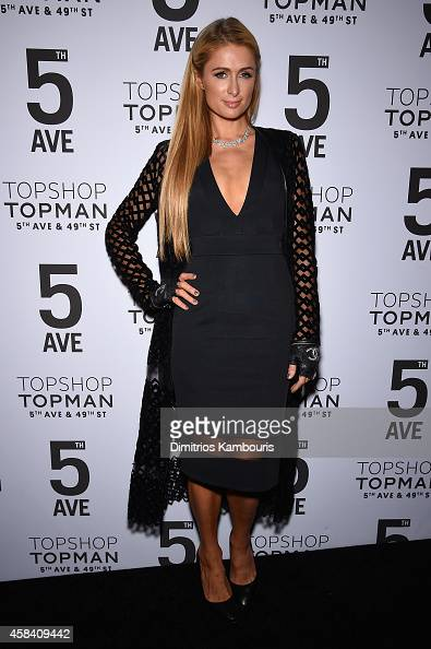 Paris Hilton attends the Topshop Topman New York City flagship opening dinner at Grand Central Terminal on November 4 2014 in New York City