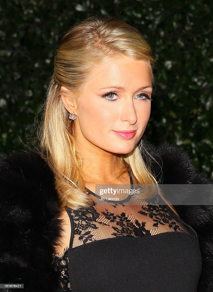 Paris Hilton attends the Topshop Topman LA Opening Party held at Cecconi's Restaurant on February 13, 2013 in Los Angeles, California.