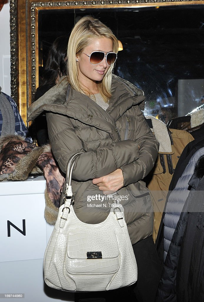 Paris Hilton attends the TR Suites Daytime Lounge - Day 2 on January 19, 2013 in Park City, Utah.