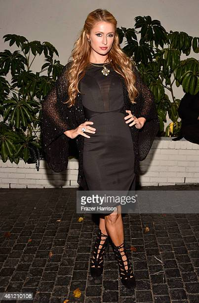 Paris Hilton attends the W Magazine celebration of the 'Best Performances' Portfolio and The Golden Globes with Cadillac and Dom Perignon at Chateau...