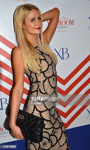 Paris Hilton attends the XB Sex On The Beach Kelly Rowland And Cassie Party 65th Annual Cannes Film Festival at the VIP Room JW Marriott on May 19...