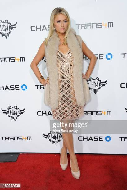 Paris Hilton attends WillIAm's Annual TRANS4M Concert Benefitting IAmAngel Foundation Red Carpet on February 7 2013 in Hollywood California