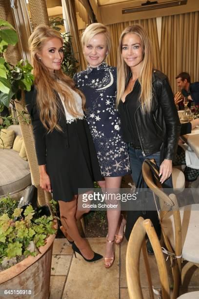 Paris Hilton Dr Barbara Sturm and Denise Richards during the NetAPorter lunch at hotel Chateau Marmont on February 24 2017 in Los Angeles California