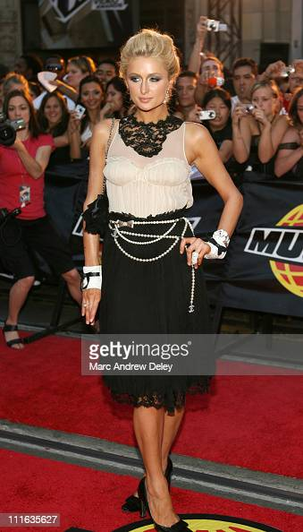 Paris Hilton during 17th Annual MuchMusic Video Awards Red Carpet at Chum City Building in Toronto Ontario Canada