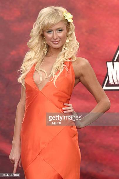 Paris Hilton during 2004 MTV Movie Awards Arrivals at Sony Pictures Studios in Culver City CA United States