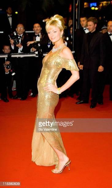 Paris Hilton during 2005 Cannes Film Festival 'Kiss Kiss Bang Bang' Premiere at Palais de Festival in Cannes France