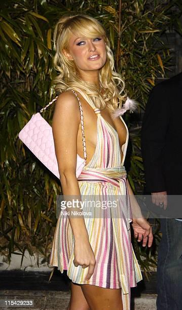 Paris Hilton during 2006 Cannes Film Festival Suite Miami Hosts Paris Hilton at Baoli Arrivals at Baoli Bar and Restaurant in Cannes France
