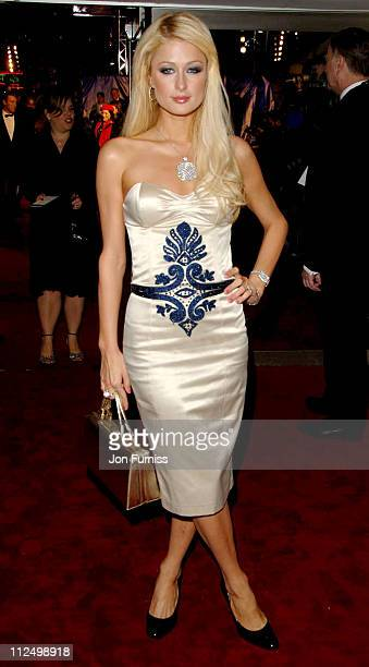 Paris Hilton during 'Casino Royale' World Premiere Inside Arrivals at Odeon Leicester Square in London Great Britain
