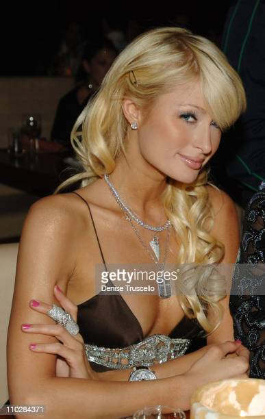 Paris Hilton during Jet PreParty Dinner at Stack Restaurant and Bar at Stack Restaurant and Bar at The Mirage Hotel and Casino Resort in Las Vegas...