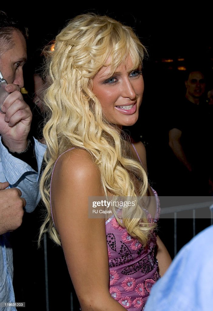 Paris Hilton during Maxim Magazine's Music Issue Party at Crobar in New York City, New York, United States.