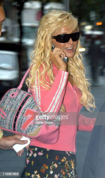 Paris Hilton during Paris Hilton and Donald Trump Arrive for 'The Today Show' September 9 2004 at Rockefeller Plaza in New York City New York United...