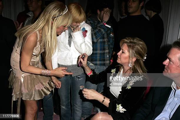 Paris Hilton Elisha Cuthbert Kathy Hilton and Rick Hilton