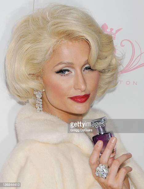 Paris Hilton embodies icon Marilyn Monroe to celebrate the launch of her 10th fragrance 'Tease' at MyStudio Nightclub on August 10 2010 in Hollywood...