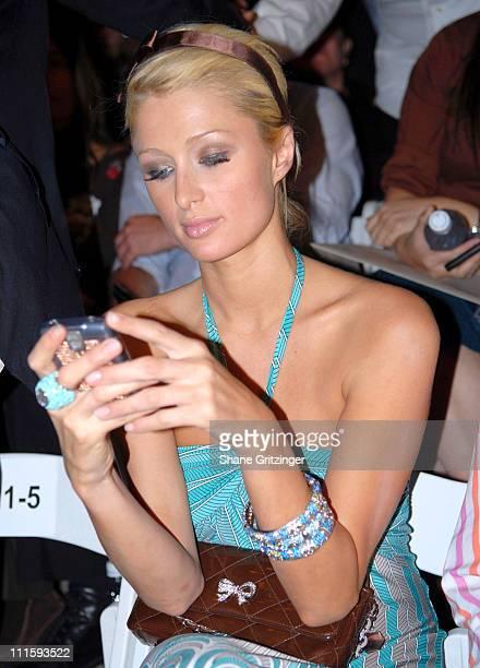 Paris Hilton front row at John Varvatos Spring 2007