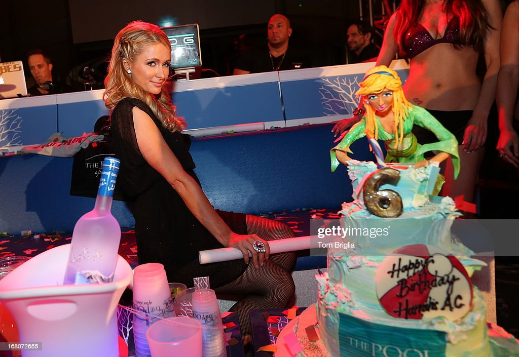 Paris Hilton hosts The Pool After Dark's 6th year anniversary party at Harrah's Resort on Saturday May 4, 2013 in Atlantic City, New Jersey.