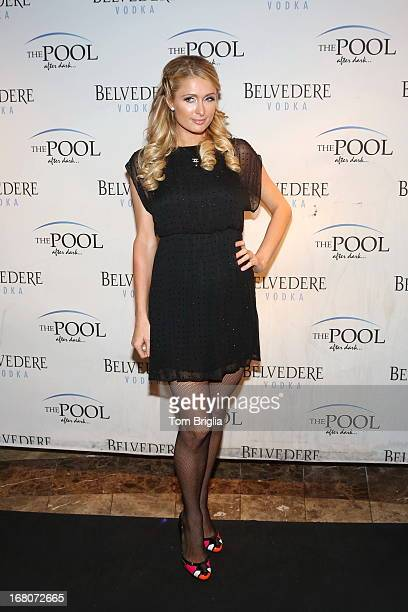 Paris Hilton hosts The Pool After Dark's 6th year anniversary party at Harrah's Resort on Saturday May 4 2013 in Atlantic City New Jersey