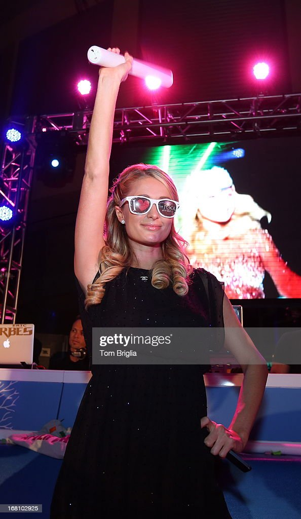 Paris Hilton hosts The Pool After Dark's Six year anniversary party at Harrah's Resort on Saturday May 4, 2013 in Atlantic City, New Jersey.