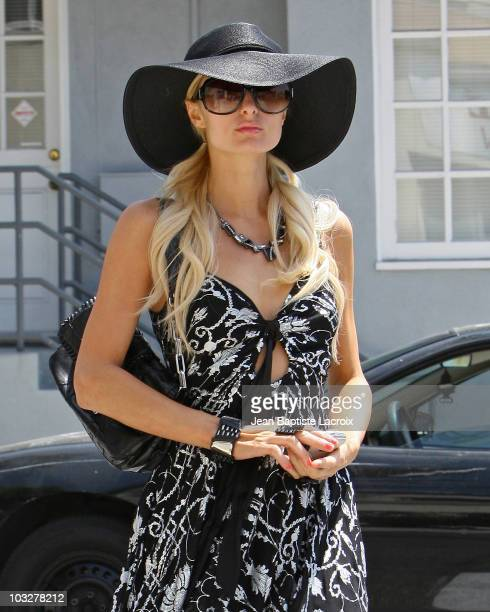 Paris Hilton is seen in on August 6 2010 in Los Angeles California