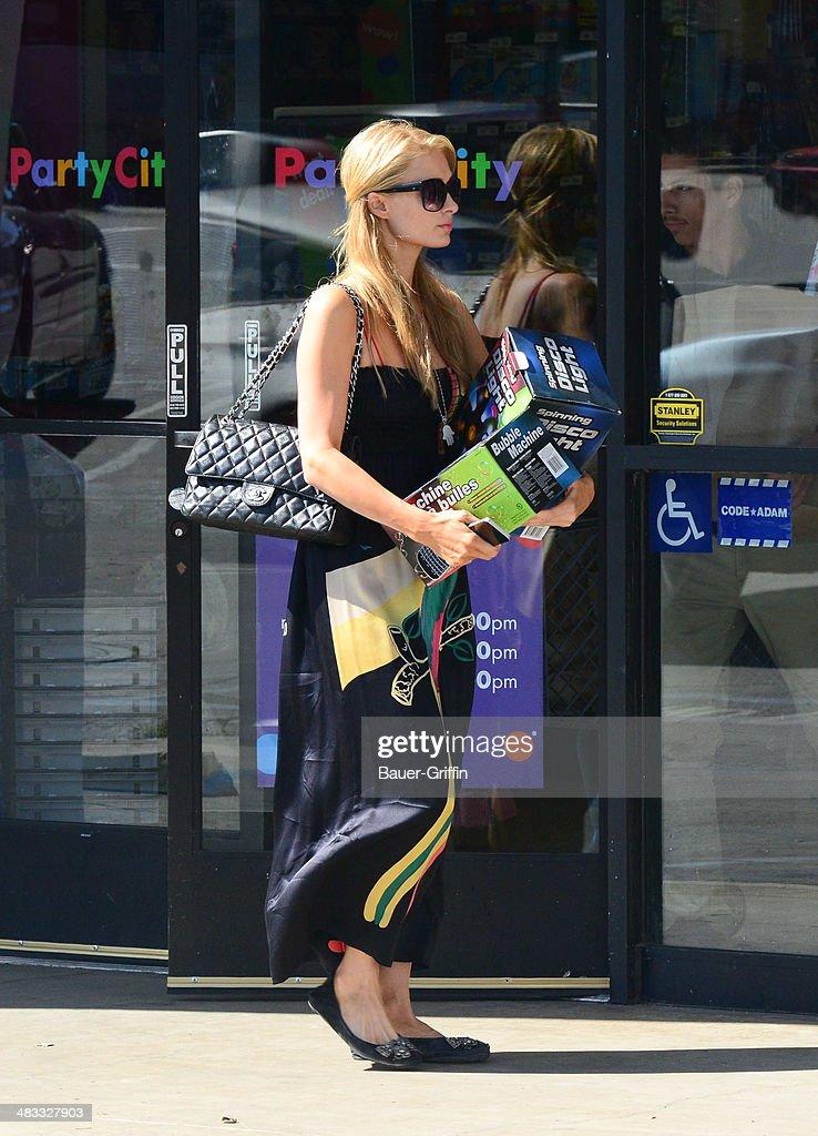 Paris Hilton is seen on April 07, 2014 in Los Angeles, California.