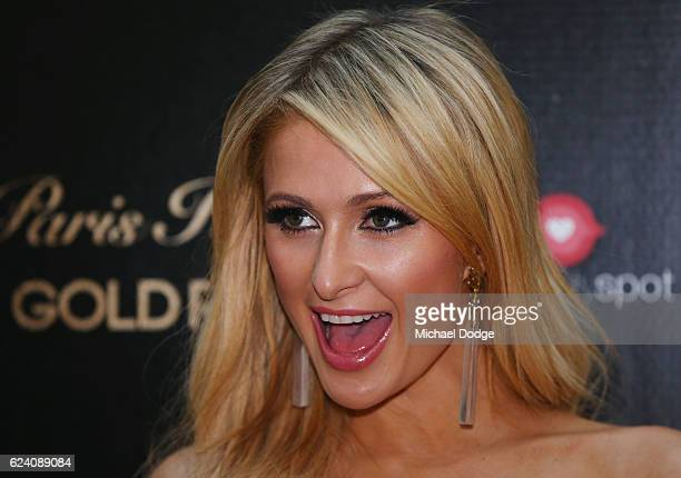 Paris Hilton looks on during a QA with fans at Westfield Doncaster on November 18 2016 in Melbourne Australia
