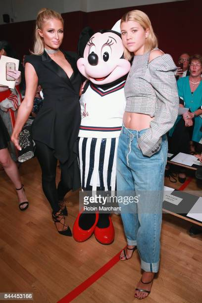 Paris Hilton Minnie Mouse and Sofia Richie attend the Monse fashion show during New York Fashion Week The Shows on September 8 2017 in New York City