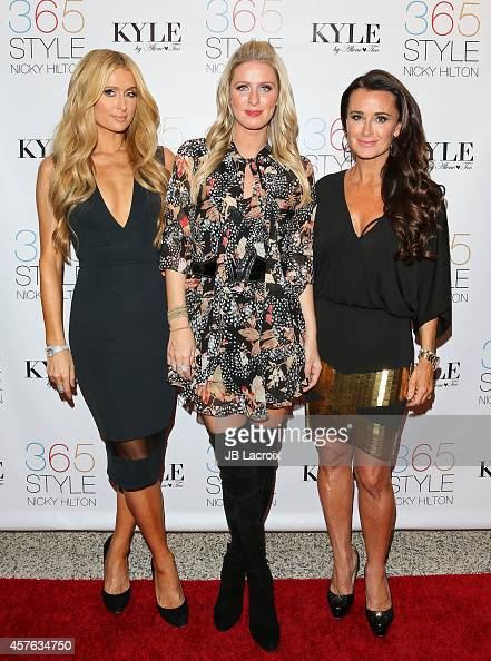Paris Hilton Nicky Hilton and Kyle Richards attend Nicky Hilton's 365 Style book party for the filming of 'The Real Housewives Of Beverly Hills' at...