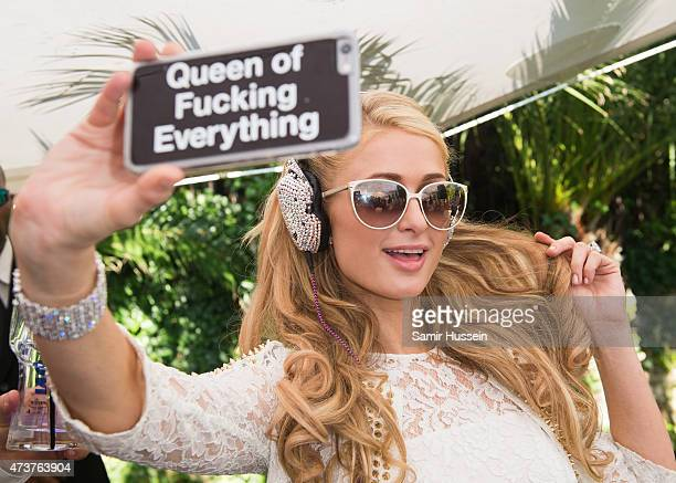 Paris Hilton performs at the Hollywood Domino Cannes Benefiting Action Against Hunger Nepal Earthquake Emergency Response on May 17 2015 in Cannes...