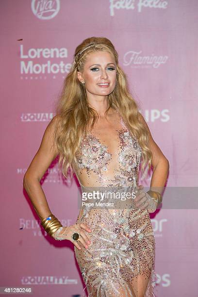 Paris Hilton presents 'Foam Diamonds' on July 18 2015 in Ibiza Spain