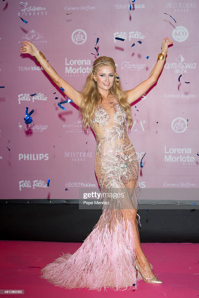 <a gi-track='captionPersonalityLinkClicked' href=/galleries/search?phrase=Paris+Hilton&family=editorial&specificpeople=171761 ng-click='$event.stopPropagation()'>Paris Hilton</a> presents 'Foam & Diamonds' on July 18, 2015 in Ibiza, Spain.