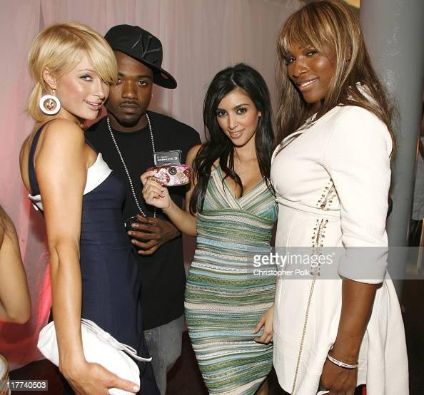 Paris Hilton Ray J Kim Kardashian and Serena Williams