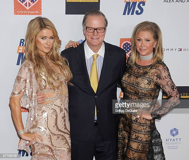 Paris Hilton Rick Hilton and Kathy Hilton arrive at the 22nd Annual Race To Erase MS at the Hyatt Regency Century Plaza on April 24 2015 in Century...