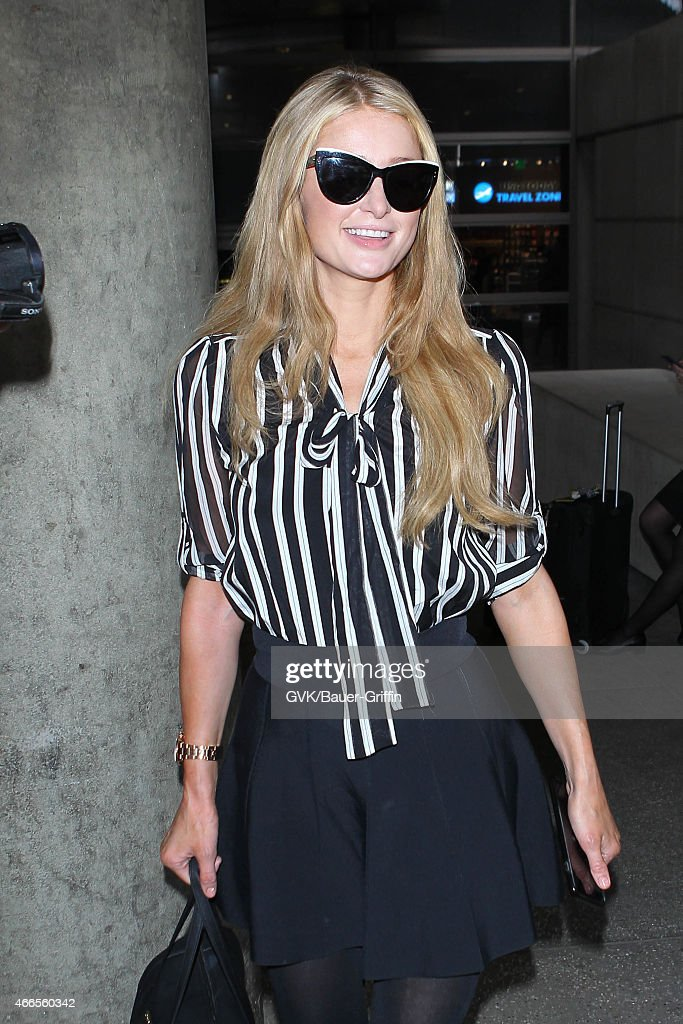 Paris Hilton seen at LAX on March 16 2015 in Los Angeles California