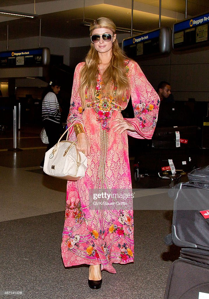 Paris Hilton seen at LAX on October 12 2014 in Los Angeles California